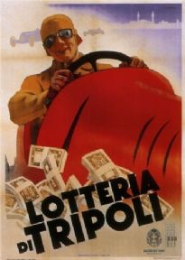 Vintage advertisment poster - Lottery of Tripoli